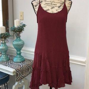 Entro Burgundy Dress